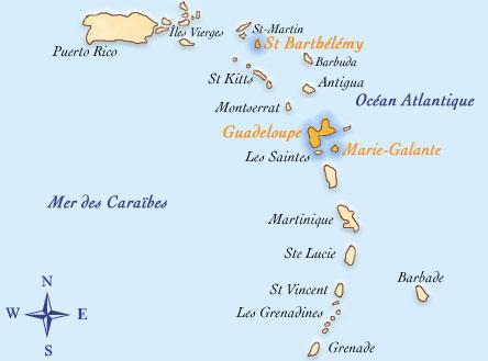 Les Antilles carteantillesfrancaises